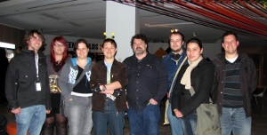 Some of the Double Fine Adventure backers with Tim.