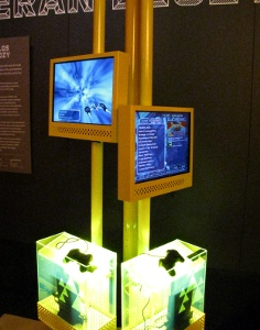 A view of the Harmonix exhibit.