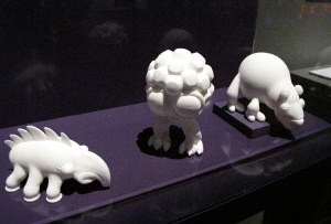 Some 3D printed Spore creatures.