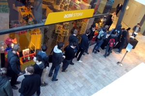 Part of the queue for the second day of Game Masters: The Forum.