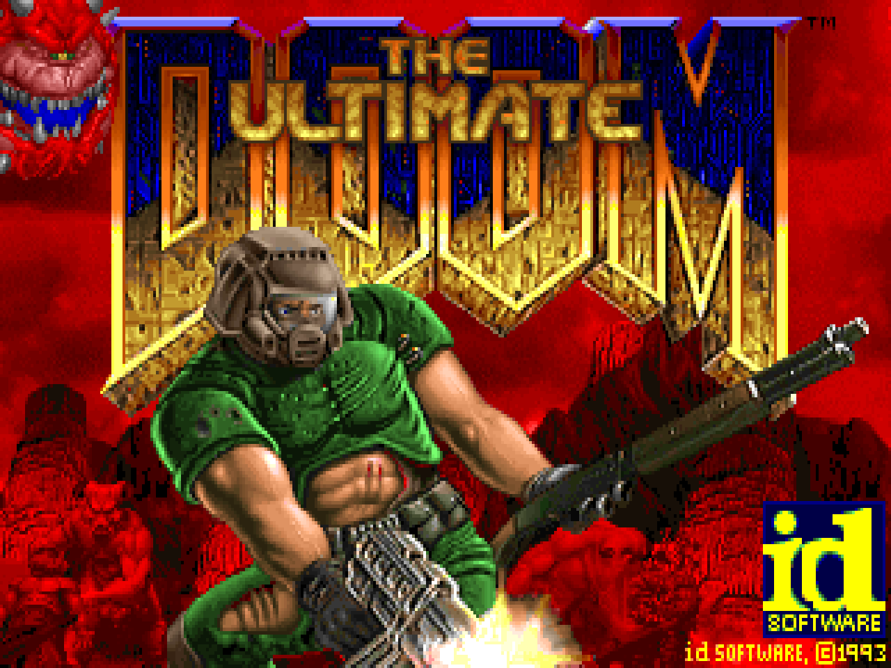 The Ultimate Doom splash screen.