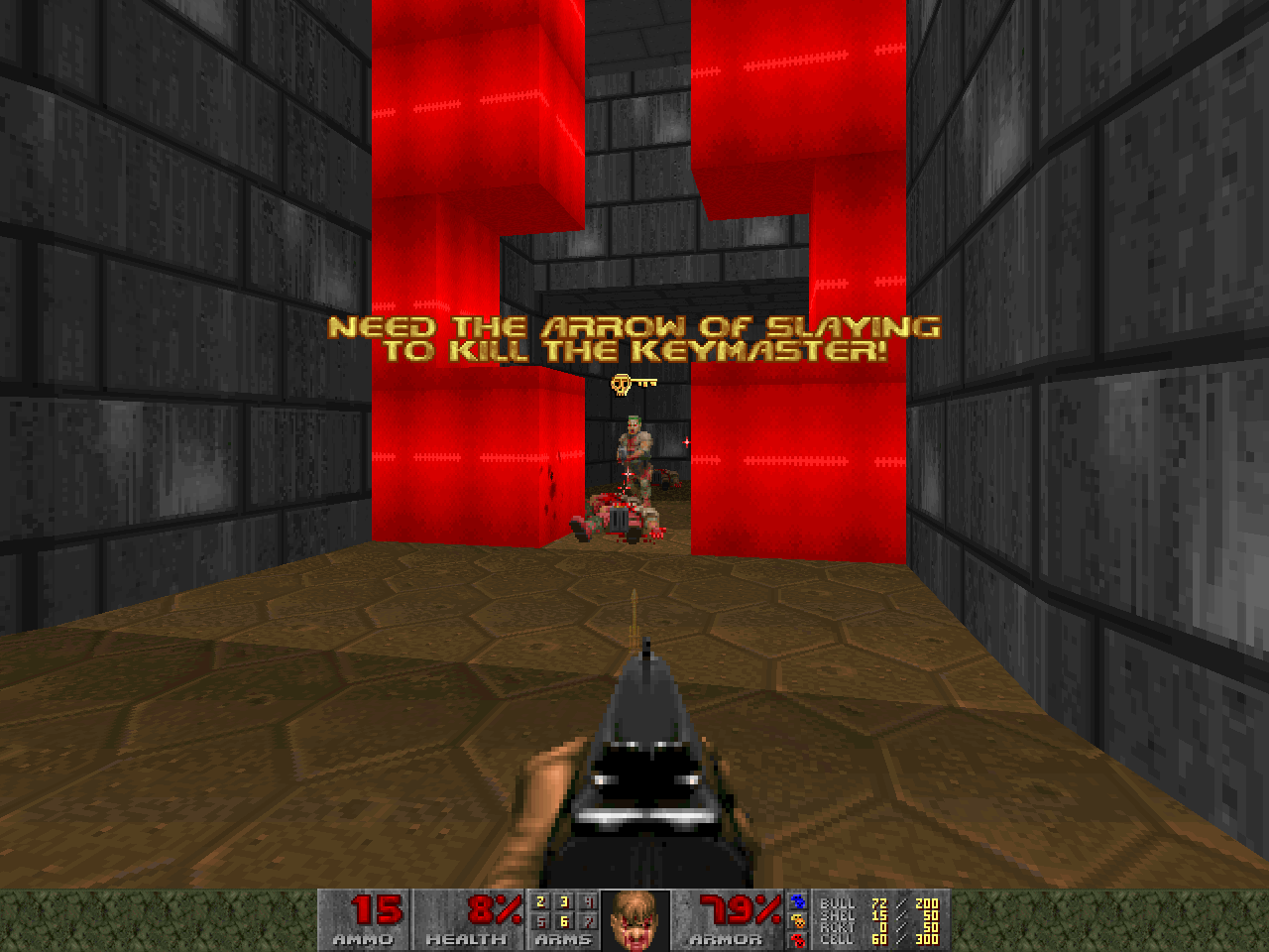 A screenshot from Keymaster.