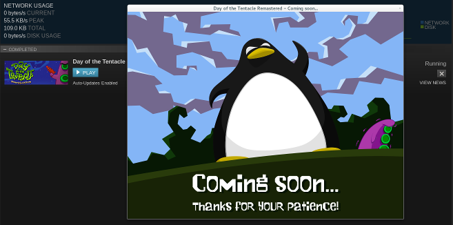 "A screenshot of the ""coming soon"" app."