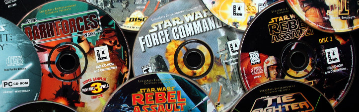 Discs for a bunch of Star Wars games