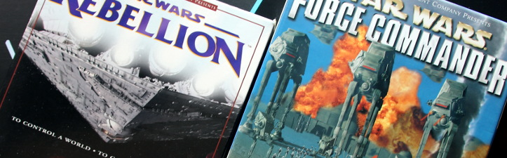 Boxes for Star Wars: Rebellion and Star Wars: Force Commander