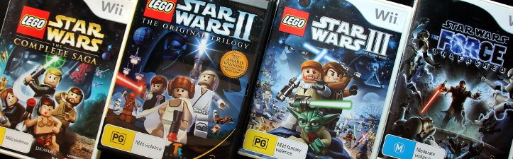 Several Wii and LEGO Star Wars titles